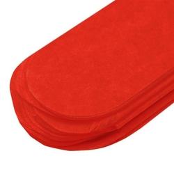Papierowy pompon 15 cm - czerowny - CZE