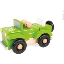 Samochód terenowy drewniany magnetyczny
