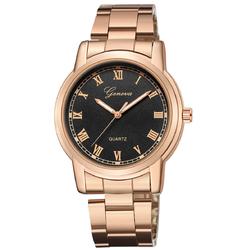 Zegarek męski BRANSOLETA KLASYK GENEVA złoty róż - rose gold black