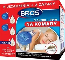 BROS Elektro na komary 2 urządzenia + 3 zapasy 60 nocy