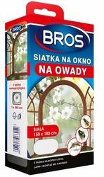 Bros, Biała siatka na okno zabezpieczająca pomieszczenia przed owadami, 150x180cm