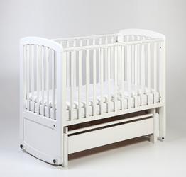 TROLL Łóżeczko dziecięce - kołyska De Lux Glider Cot 120x60 Białe