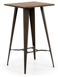 Stolik CARRIBI grafitowy - drewniany || czarny