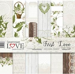 Papier do scrapbookingu 30x30cm First Love - zestaw
