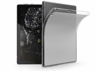 Etui silikonowe przezroczyste do Huawei MediaPad T5 10.1 + Szkło Alogy