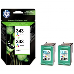HP oryginalny ink CB332EE, No.343, color, 520 2x260s, 2x7ml, HP 2-Pack, C8766EE, PSC-1610, OJ-6210, DeskJet 6840