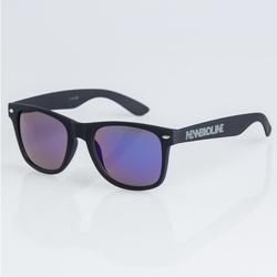 Okulary New Bad Line Classic BLACK RUBBER BLUE MIRROR | 1307