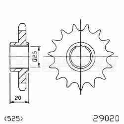 Zębatka przednia JT 50-29020-15, 15Z, rozmiar 525 2201050 Aprilia RSV 1000