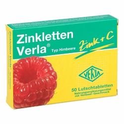 Zinkletten Verla Cynk pastylki o smaku malinowym