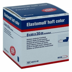 Elastomull haft color 20mx8cm blau Fixierb.