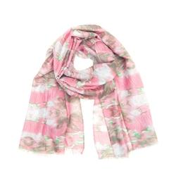 Szal marmurkowy różowy - różowy