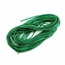 Rzemień płaski 3 mm 1 sztuka - zielony ciemny - zielony ciemny