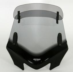 Uniwersalna szyba MRA do motocykli bez owiewek, forma - VFVTZ1 przyciemniana