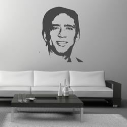 naklejka welurowa twarz Nicolas Cage tw21