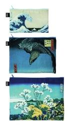 Saszetki Zip Pockets Museum 3 szt. Hokusai
