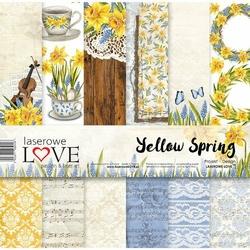Papier do scrapbookingu 30x30cm Yellow Spring - zestaw