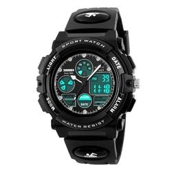 Zegarek DZIECIĘCY SKMEI 1163 DATOWNIK LED black - BLACK