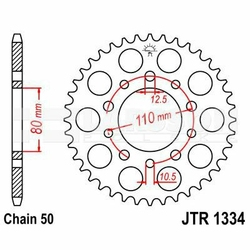 Zębatka tylna stalowa JT 1334-45, 45Z, rozmiar 530 2300006 Triumph Trophy 1200