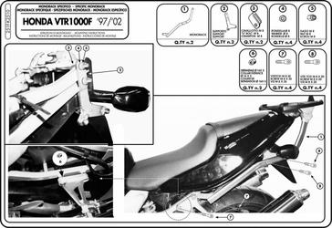 GIVI 251F MONORACK HONDA VTR 1000 F 97  04