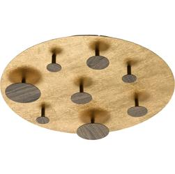 Złoto-drewniana lampa sufitowa LED RegenBogen Techno 712011908