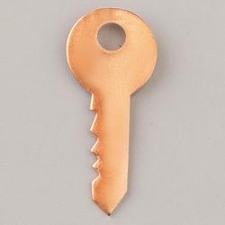 Metalowa zawieszka Efcolor - klucz 37x16 mm - KL37