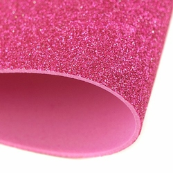 Brokatowa pianka 20x30 cm - różowy - RÓŻ