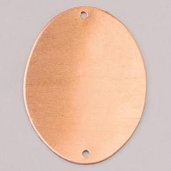 Metalowa zawieszka Efcolor-owalny z 2 dz 41x31 mm - OWZD41