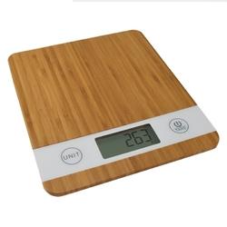Waga kuchenna SMART  Wyświetlacz LCD  drewno bambusowe