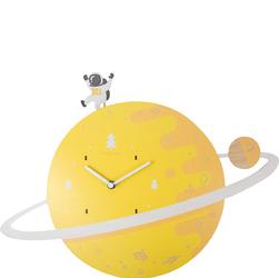 Zegar ścienny z wahadłem do pokoju dziecięcego Spaceman Nextime 3206