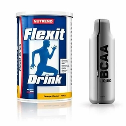 NUTREND Flexit Drink - 400g + Mega Strong BCAA - 500ml - Peach  Orange