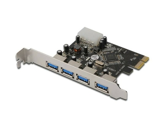 Digitus Karta rozszerzeńKontroler USB3.0 PCI Express, 4xUSB3.0, Chipset: