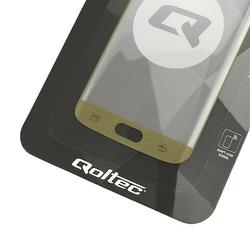 Qoltec Hartowane szkło Premium do Samsung Galaxy S7 edge   pełne        czarne