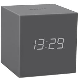 Budzik Gravity Cube Click Clock Gingko szary GK18GY