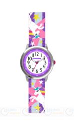 Zegarek Dziewczęcy błyszczący fioletowy z jednorożcami CLOCKODILE UNICORNS CWG5051