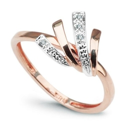pierścionek oryginalny złoto diamenty