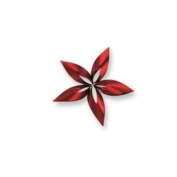 Ozdoba choinkowa gwiazdka STELLA, czerwona S