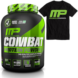 MUSCLE PHARM Combat Sport Series 1814g + T-Shirt MusclePharm Black - Triple Berries koszulka XL