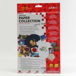 Logo foto papier, połysk, biała, A4, 210 gm2, 2880dpi, 10 szt., 15015, atrament