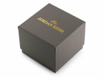 Prezentowe pudełko na zegarek - JORDAN KERR - szarezłote