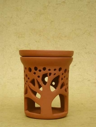 Podgrzewacz do olejków - kominek - wzór baobab