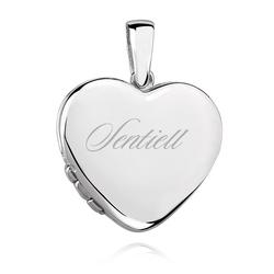 Srebrna zawieszka pr.925 Otwierane puzderko serce
