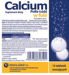 CALCIUM Polfa-Łódź x 12 tabl. musujących