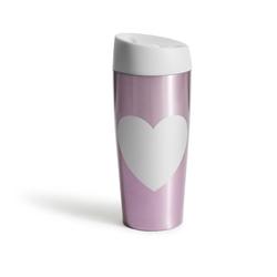 Kubek podróżny, stalowy różowy Cafe Sagaform