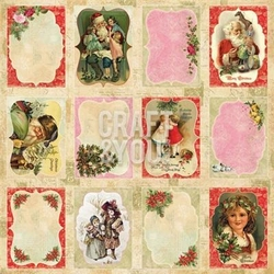 Dekoracyjne tagi 30,5x30,5 Christmas Story - 08 - 08