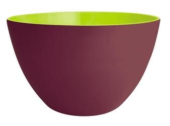 Dwukolorowa salaterka kasztanowo-zielona 28 cm Zak Designs