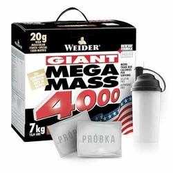 WEIDER Mega Mass 4000 - 7000g + Shaker + Próbka - 2szt - Vanilla