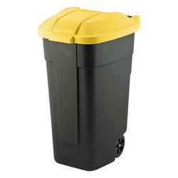 Pojemnik na kółkach do segregacji odpadów 110 l czarno-żółty Curver