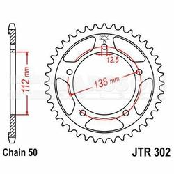Zębatka tylna stalowa JT 302-39, 39Z, rozmiar 530 2301941 Honda CB 1300