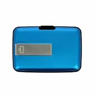Portfel Aluminiowy Ogon Designs Stockholm Money Clip Blue RFID protect