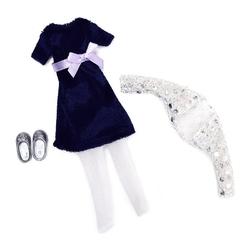 AKSAMITNA SUKIENKA dla lalki 18 cm